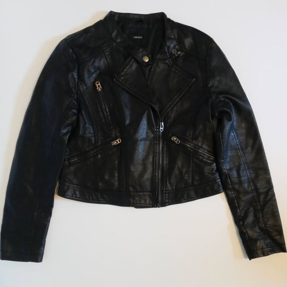 Forever 21 Women's Black Leather Jacket